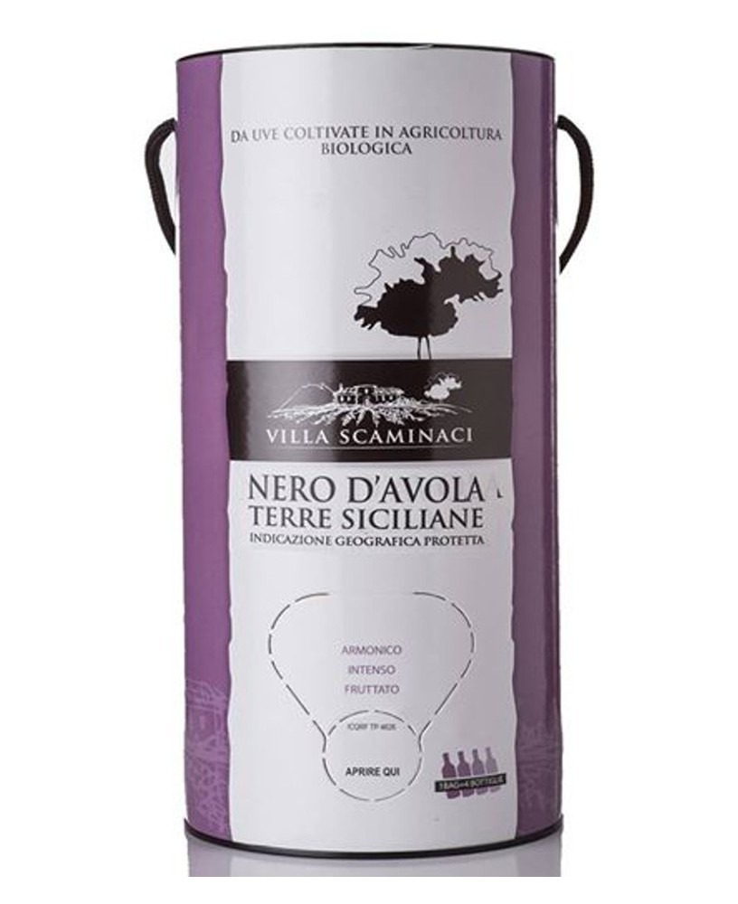 Bag in Tube 3 Lt Nero d'Avola Bio IGP