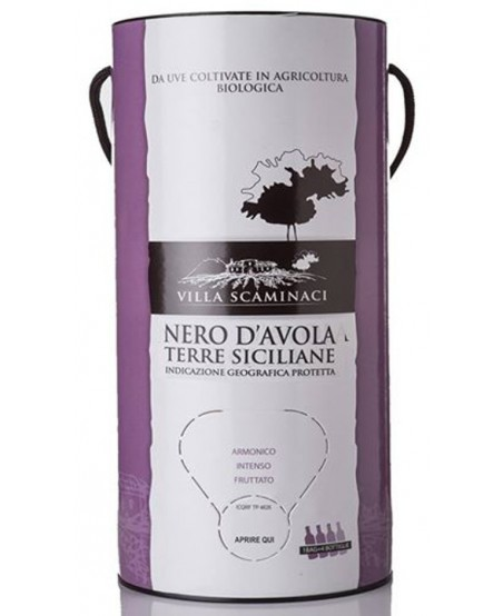 Bag in Tube da 3 Lt di Nero d'Avola Biologico