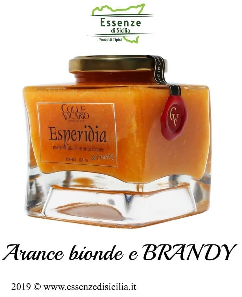 ESPERIDIA Marmellata di Arance Bionde e Brandy